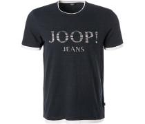 T-Shirt, Modern Fit, Baumwolle, marine