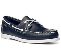 Bootsschuhe, Leder, dunkelblau