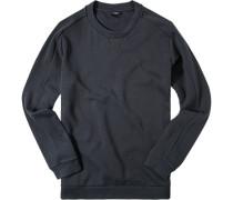Sweatshirt, Baumwolle, graublau