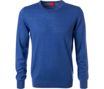 Pullover, Body Fit, Merinowolle-Seide