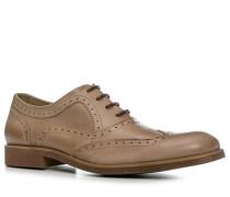 Schuhe Oxford, Glattleder, hellbraun