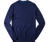 Pullover, Seide, navy