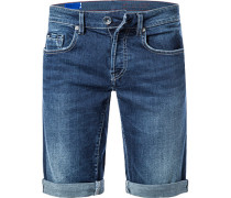 Jeans-Shorts, Slim Fit, Baumwoll-Stretch 12oz
