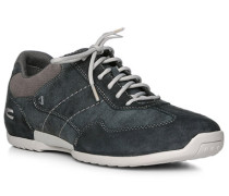 Sneaker, Nubukleder, jeansblau