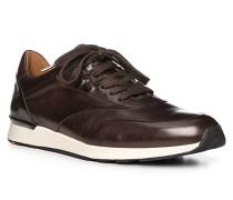 Schuhe Sneaker Ajas, Kalbleder, dunkelbraun