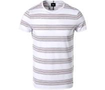 T-Shirt, Baumwolle, -grau gestreift