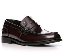 Schuhe Loafer, Kalbleder, bordeaux