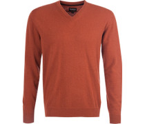 Pullover, Kaschmir-Wolle, rotbraun