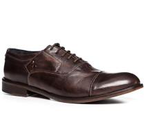 Schuhe Oxford, Leder, dunkelbraun
