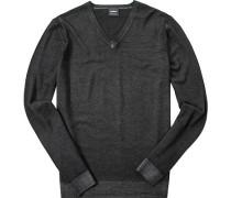 Pullover, Schurwolle, schwarz