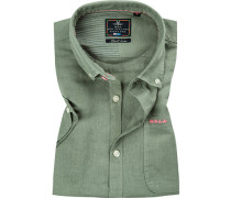 Hemd, Leinen, schilfgrün