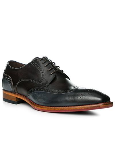rosso e nero Herren Schuhe Budapester, Leder