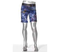 Jeans Bermudas Pipe-K, Regular Slim Fit, Pima Cotton-Stretch
