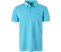 Polo-Shirt Polo, Baumwoll-Pique, eisblau