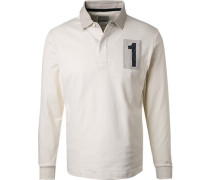 Rugby-Shirt, Baumwolle, off white