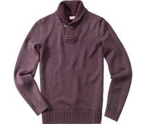Pullover, Schurwolle, violett meliert