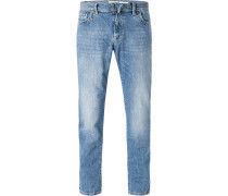 Blue-Jeans, Modern Fit, Baumwoll-Stretch