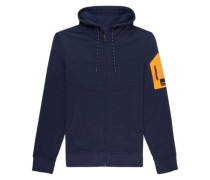 Thomas Zip Hoodie ink blue
