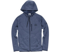 Relay Zip Hoodie navy heather