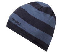 Fjellrapp Beanie Youth fogblue striped