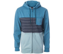 Blocking Zip Hoodie indian teal mar