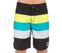 73 OG Stripe 19 Boardshorts lime