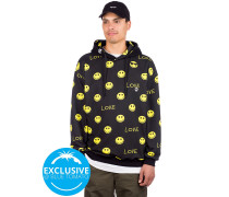 Dont worry Be Happy Hoodie smiley alr on black