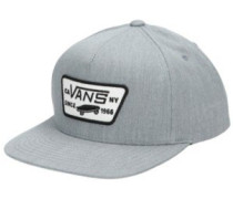 Full Patch Snapback Cap Youth heather grey