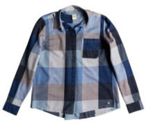 Concrete Streets Check Shirt LS dress blues square plaid