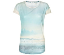 Sublimation Print T-Shirt pink aop with blue 6