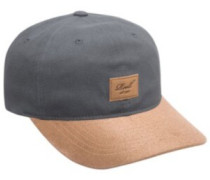Curved Suede Cap charcoal