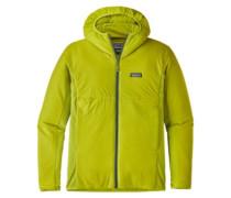 Nano-Air Light Hybrid Hood Fleece Jacket light gecko green