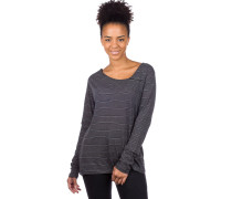 Asym Stripe 3 Long Sleeve T-Shirt anthra mel