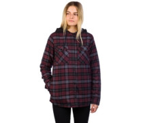 Hooded Flannel Shirt LS merlot