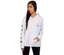On Fire Hoodie white
