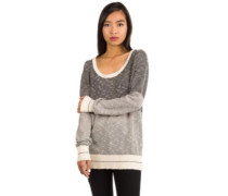 2 Tone Biquet Knit Pullover grey mel