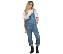 Bib Overall Straight Jeans light stone washed