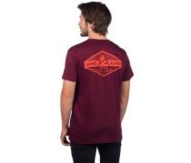 Erz T-Shirt ruby wine