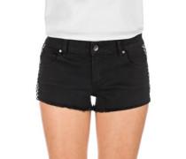 Jenna Shorts black checker stripe