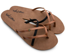 New School Sandals brown combo