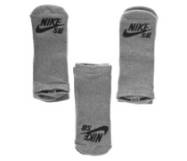 SB 3Pk No Show Socks dk grey heather