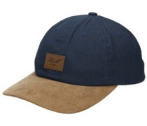 Curved Suede Cap navy