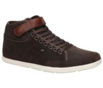 Swich Blok Sneakers waxed suede dark brown