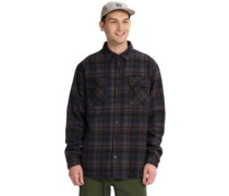 Brighton Tech Insulated Flannel Shirt LS true black humboldt plaid