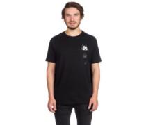 X Felix The Cat Watching Pocket T-Shirt black