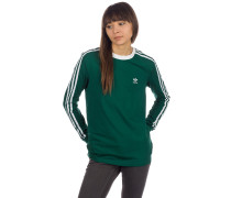 3 Stripe Long Sleeve T-Shirt collegiate green
