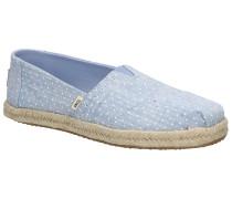 Alpargata Slip-Ons bliss blue chambray dots