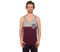 Block Pocket Tank Top red wine