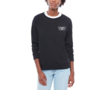 Full Patch Raglan Crew Sweater black