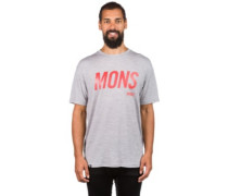 Merino Icon Slant T-Shirt grey marl